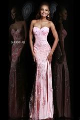 9707 Strapless Sequined