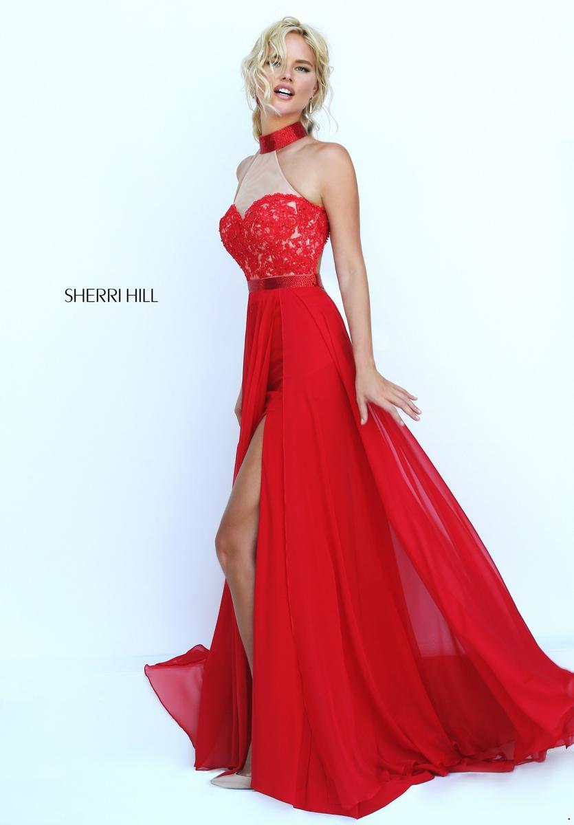 Red sherri hill prom dresses 2017