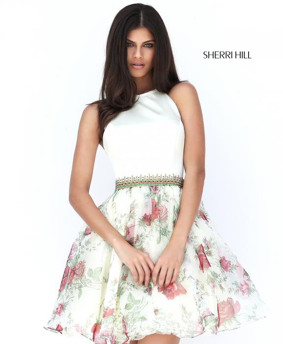 Sherri Hill Short White Prom Dress