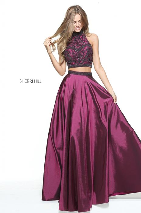 Sherri Hill Beaded Two Piece Gown