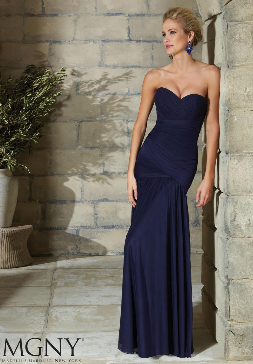 VM Collection Chiffon One Shoulder Evening Dress 70622